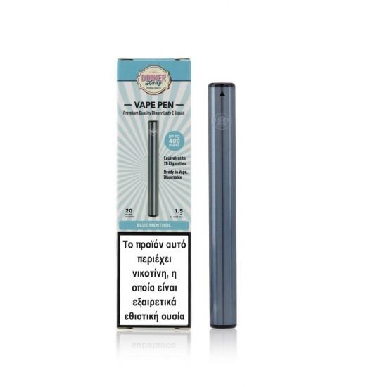 Dinner Lady Blue Menthol Disposable Vape Pen 20Mg 1.5ml