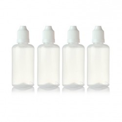 Liquid Bottle with Childproof Cap White 30ml