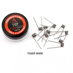Rofvape Tiger Prebuilt Wire 0.36ohm 26GA 0.2*0.8 10pcs